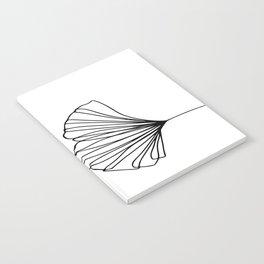 Ginkgo Leaves 01 Minimal Line Art Notebook