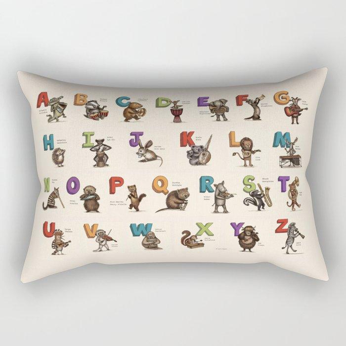 Animals & Instruments ABCs Rectangular Pillow