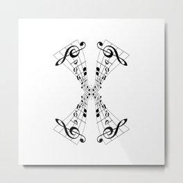 Bending Notes Metal Print