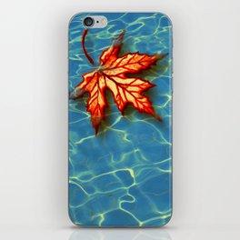 Wet Maple Leaf iPhone Skin