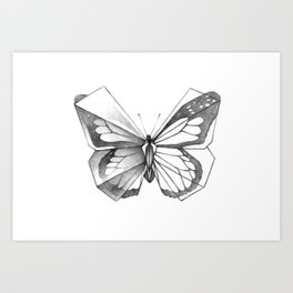 Butterfly Origami Art Print