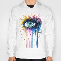 "hell Hoodies featuring ""Rainbow Eye"" by PeeGeeArts"