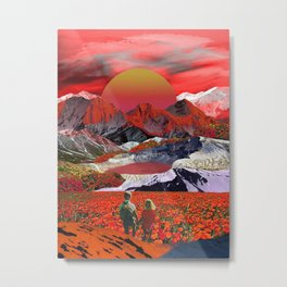 Journey to the red sunset Metal Print