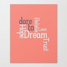 Dare to Love -- Alternate Version Canvas Print