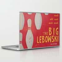 the big lebowski Laptop & iPad Skins featuring The Big Lebowski - Movie Poster by Stefanoreves
