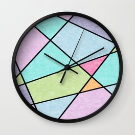 Frosted pastel Wall Clock