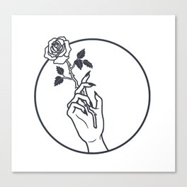 Smokin' Rose Canvas Print