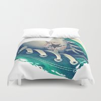 converse Duvet Covers featuring Converse Love in White by Madison Daniels
