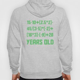 50 Years Old Algebra Equation Funny 50th Birthday Hoody