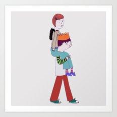piggy back Art Print