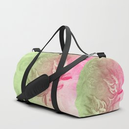 Pink and green wattle and kaleidoscope Duffle Bag