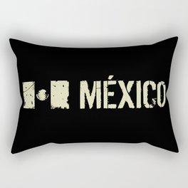 Mexican Flag: Mexico Rectangular Pillow