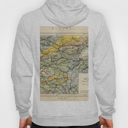 Scotch Coal Fields Vintage Map Hoody