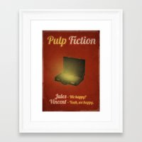 pulp fiction Framed Art Prints featuring Pulp Fiction by rkbr