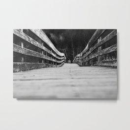 When Wood Waves Metal Print