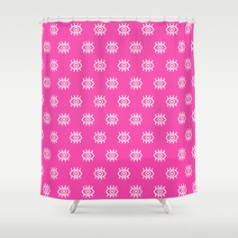 Eyes on You - Pink Shower Curtain