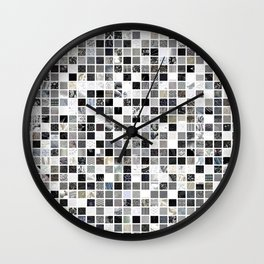 Checkered Past in Black and White Wall Clock