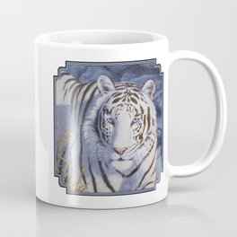 White Tiger with Blue Eyes Coffee Mug