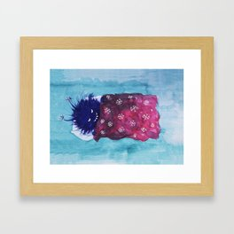 Cute Evil Bug Goes To Sleep Framed Art Print