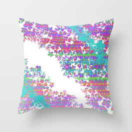 Fringe Floral Throw Pillow