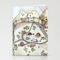 camp Stationery Cards featuring Desert Camp by Brooke Weeber