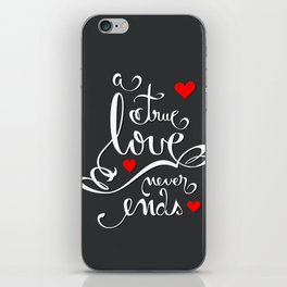 Valentine Love Calligraphy and Hearts V2 iPhone Skin