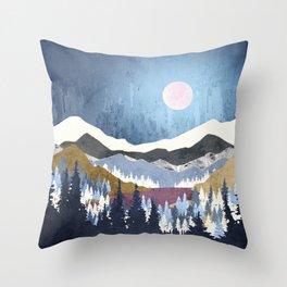 Blueberry Sky Throw Pillow