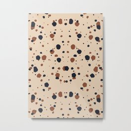 Abstract Contemporary Print 071 - chocolate, century decor, interior, abstract, mid decoration, con Metal Print