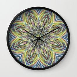 Colorful Center Swirl Wall Clock