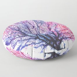 Fan Coral - Purple Floor Pillow