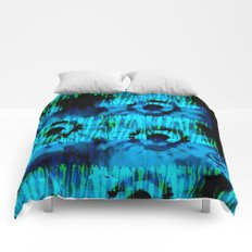 Blue and Green Tie Dye Comforters