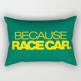 BECAUSE RACE CAR v5 HQvector Rectangular Pillow