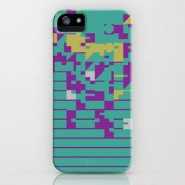 Abstract 8 Bit Art iPhone Case