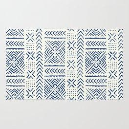 Line Mud Cloth // Ivory & Navy Rug