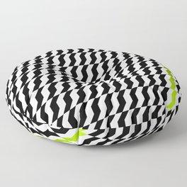 A Stripe of Green Floor Pillow