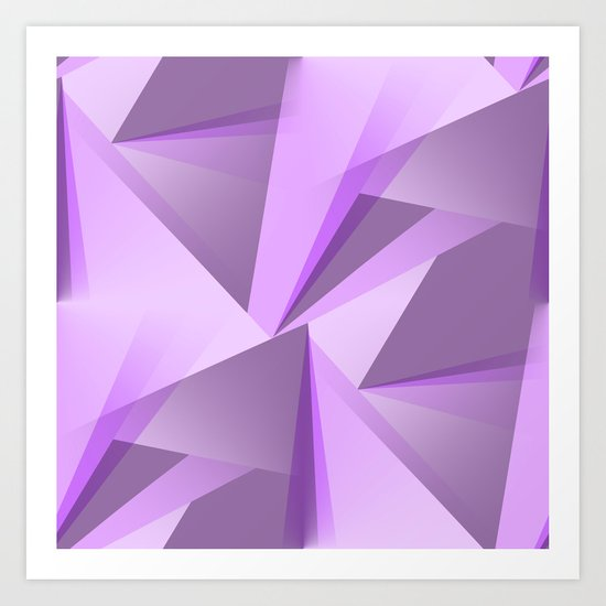 Meditation - Purple Abstract by mellowcat