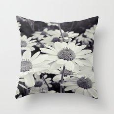 Daisy White Throw Pillow