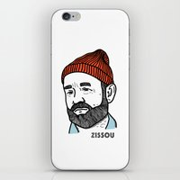 steve zissou iPhone & iPod Skins featuring Zissou by Daniel Feldt