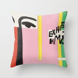 Cover design for exhibition catalogue by Henri Matisse Throw Pillow