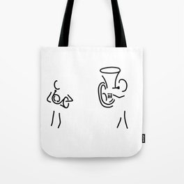 hornist tuba brass player Tote Bag