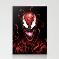carnage Stationery Cards featuring Carnage by dariiy