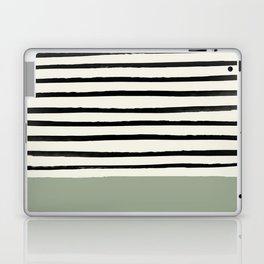 Sage Green x Stripes Laptop & iPad Skin