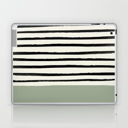 Sage Green x Stripes Laptop & iPad Skin