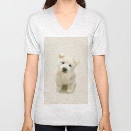 Jindo puppy re Unisex V-Neck