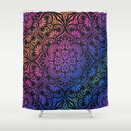 Rainbow Mandala Background Pink Orange Blue Green Purple Shower Curtain