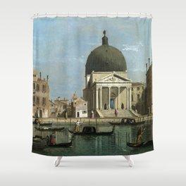Venice: S. Simeone Piccolo by Follower of Canaletto Shower Curtain
