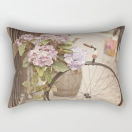 Bike with flowers Rectangular Pillow