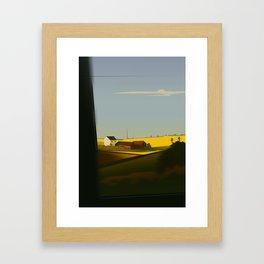 Trainblur2 Framed Art Print