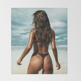 Sexy Boobs Girl Pussy Topless erotica Butt Erotic Ass Teen tits cute model pinup porn fuck sex strip Throw Blanket