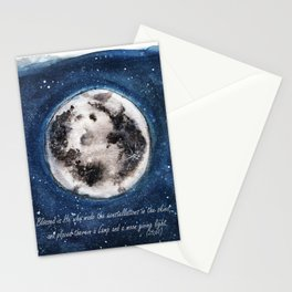 Moon, Verse, Blue skies, Lovely Moon, Moon and Sunshine, Gift, night sky Stationery Cards